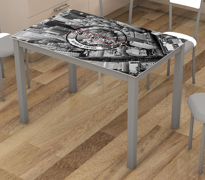 Mesa Cocina Cristal New York - MOBIMARK | Showroom mobiliari