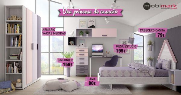 Mesa Estudio Habitación Princesa